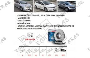 Fren Diski Ön Civic 06-12 / Crv 03-06 282mm (5) | Emir Aras Otomotiv Japon Kore Yedek Parça
