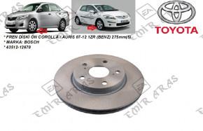 Fren Diski Ön Corolla / Auris 07-12 1ZR (Benzinli) 275mm(5)