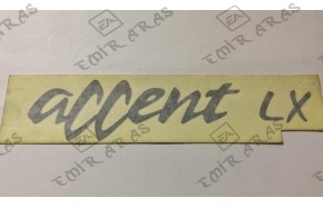 Yazı Bagaj Accent 98-00 (Accent Lx)
