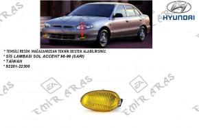 Sis Lambası Sol Accent 1998-1999 (Sarı)
