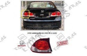 Stop Lambası Sol Civic 2009-2011 Led
