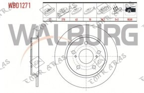 Fren Diski Arka Corolla / Auris 2007- / 2012- (Dizel D4d) 270mm(5)