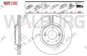 FREN DİSKİ ÖN TUCSON 15-19  SPORTAGE 15-19 1,6 GDİ 305mm (5)