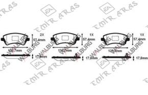 Fren Balatası Ön Corolla 2003-2006 Vvti 1,4 1,6 | Emir Aras Otomotiv Japon Kore Yedek Parça